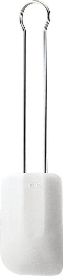 Spatel/dejskraber stål/hvid L32cm B7,5cm