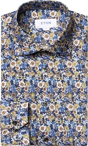 Flower twill shirt Contemporary fit