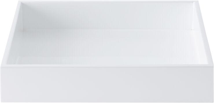 Lak bakke 19*19*3,5 White
