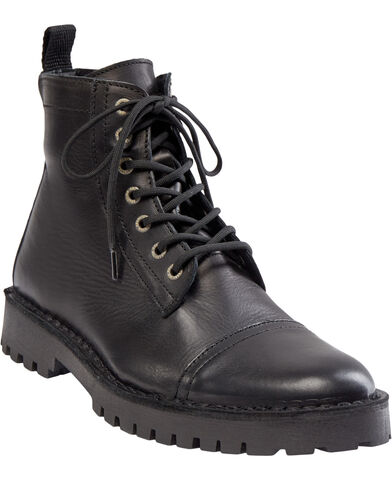SLHRICKY LEATHER  TOE-CAP BOOT W