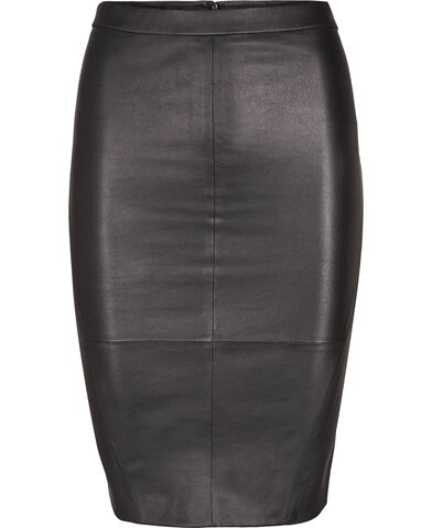 Plongy leather nederdel
