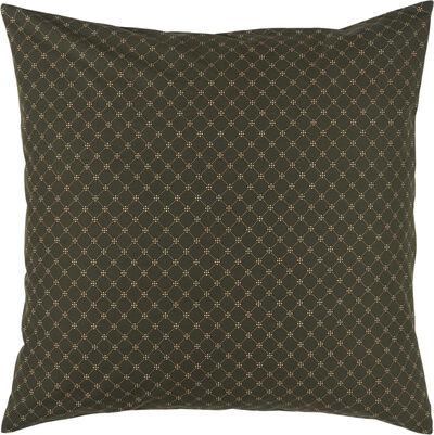 Pudebetræk mørkebrun/ kobber mønster