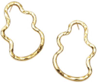 Golden Shape Earrings, VERMEIL (925 Sterling silver gold plated 2.5 mi