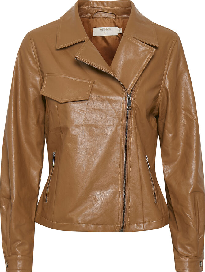 CRIlle Faux Leather Jacket