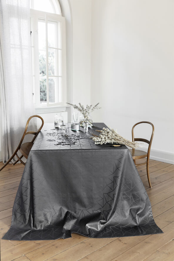 ARNE JACOBSEN coated tablecloth, Asphalt