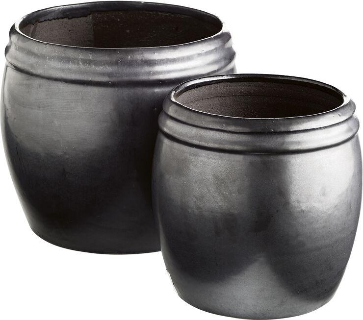 Krukke i keramik sæt af 2 phantom